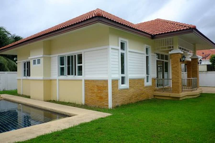 Cheap detached house with pool in the heart of Chalong with swimming pool Area 94 square meters