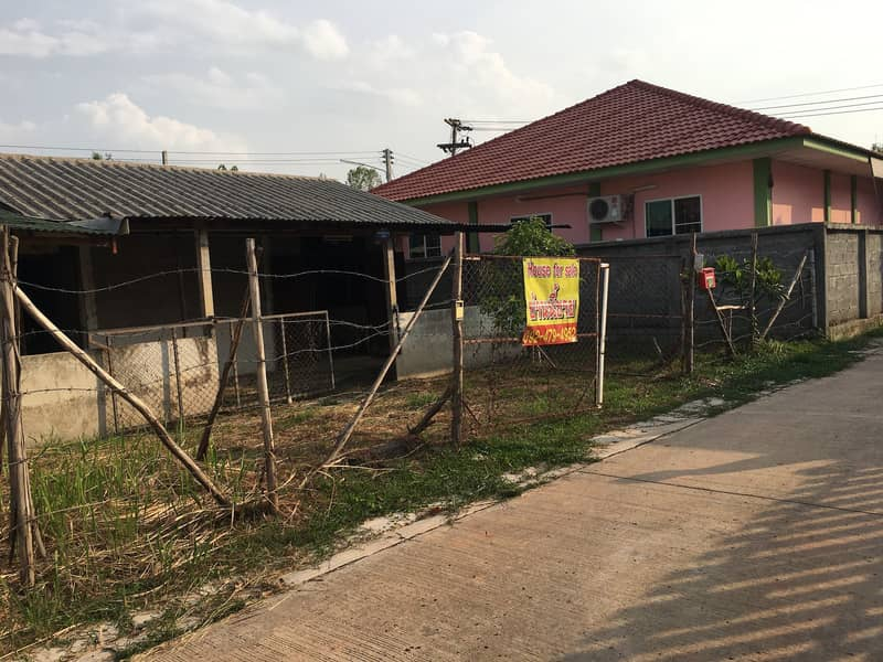 Land and house for sale, good structure, renovated for living