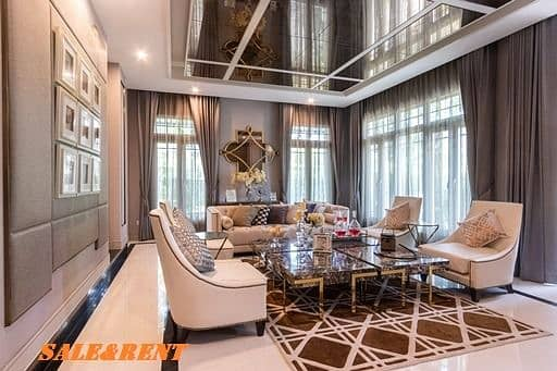 BN408 Luxury detached house for sale and rent. Ladawan Village Ratchapruek Taling Chan, a luxury house decorated with a model home