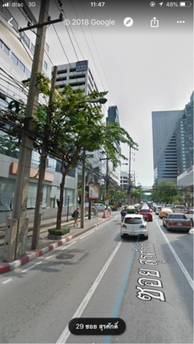 38417-Office building 8-storey for sale, on Silom road, 256 sq. wa.