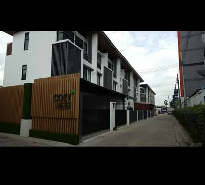 3 Bedroom Townhouse for Rent in Chatuchak, Bangkok - 3-storey townhome for rent, Cozy Ladprao 41 project, very new condition, front road 12 meters wide, near MRT Lat Phrao,.