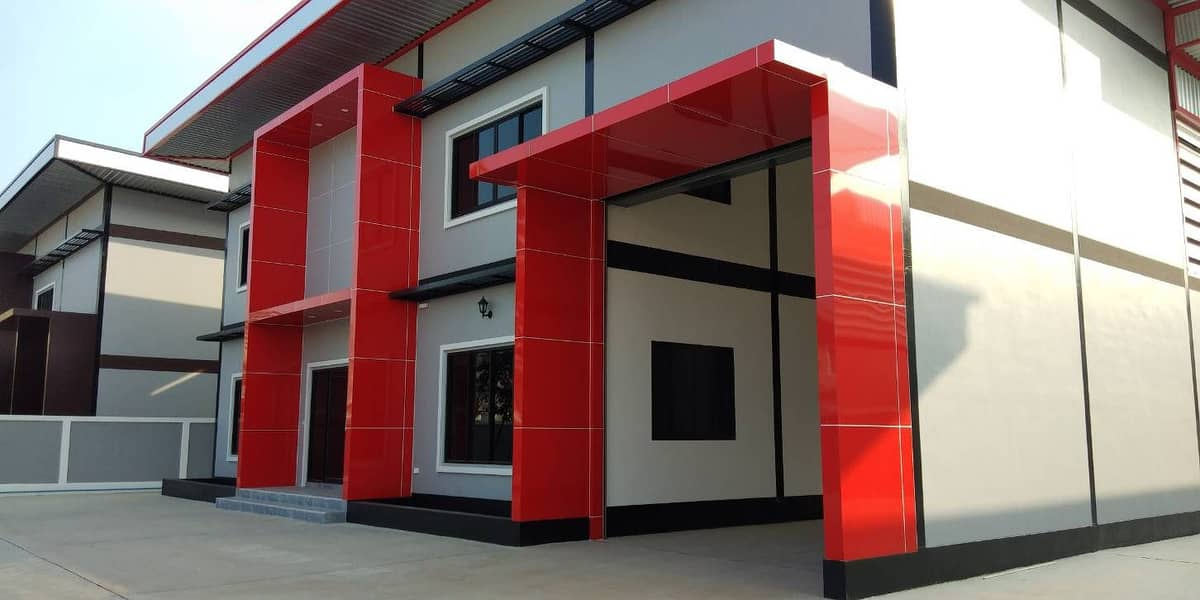 Factory for sale, new building, 396 square wa. 800 sqm. , Request for Ror. 4, has a large car layout, easy access. The cheapest price in Samut Sakhon