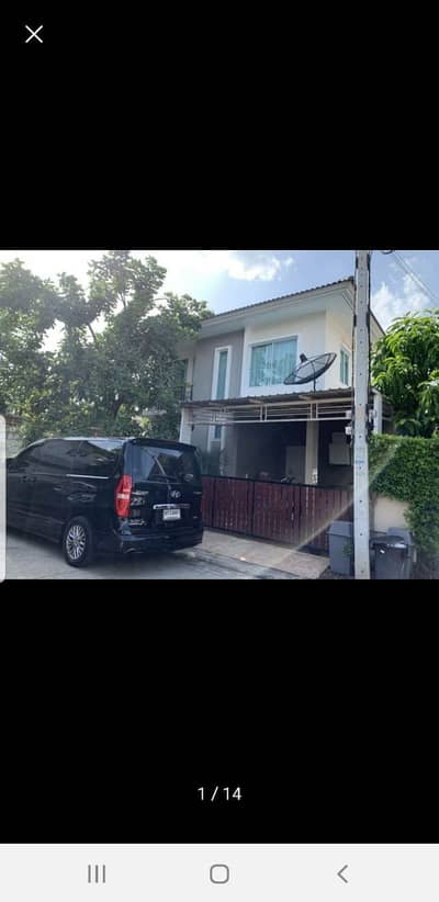 3 Bedroom Home for Rent in Lam Luk Ka, Pathumthani - House for rent, The Trust Hathairat, empty house, 2 air conditioners