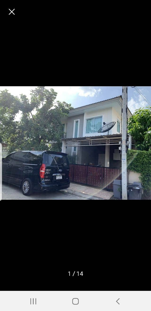 House for rent, The Trust Hathairat, empty house, 2 air conditioners