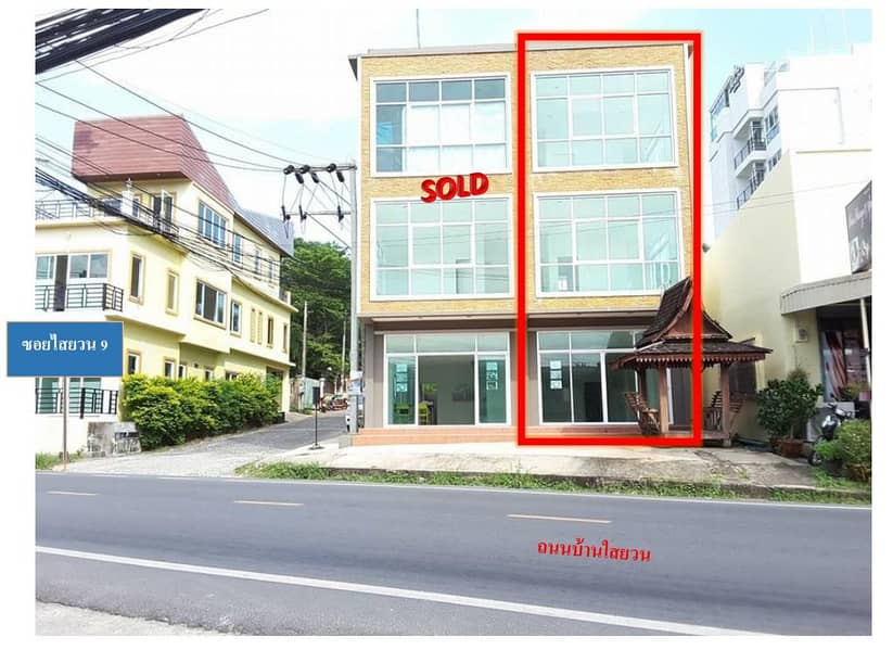 3-storey commercial building for sale, 6 bedrooms, 7 bathrooms, with rooftop, beautiful views, near Rawai Beach. Phuket Province