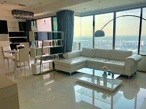 Condo for rent at the emporio place, 108 sqm. 2 bedrooms, 34th floor, beautiful room, very good condition.