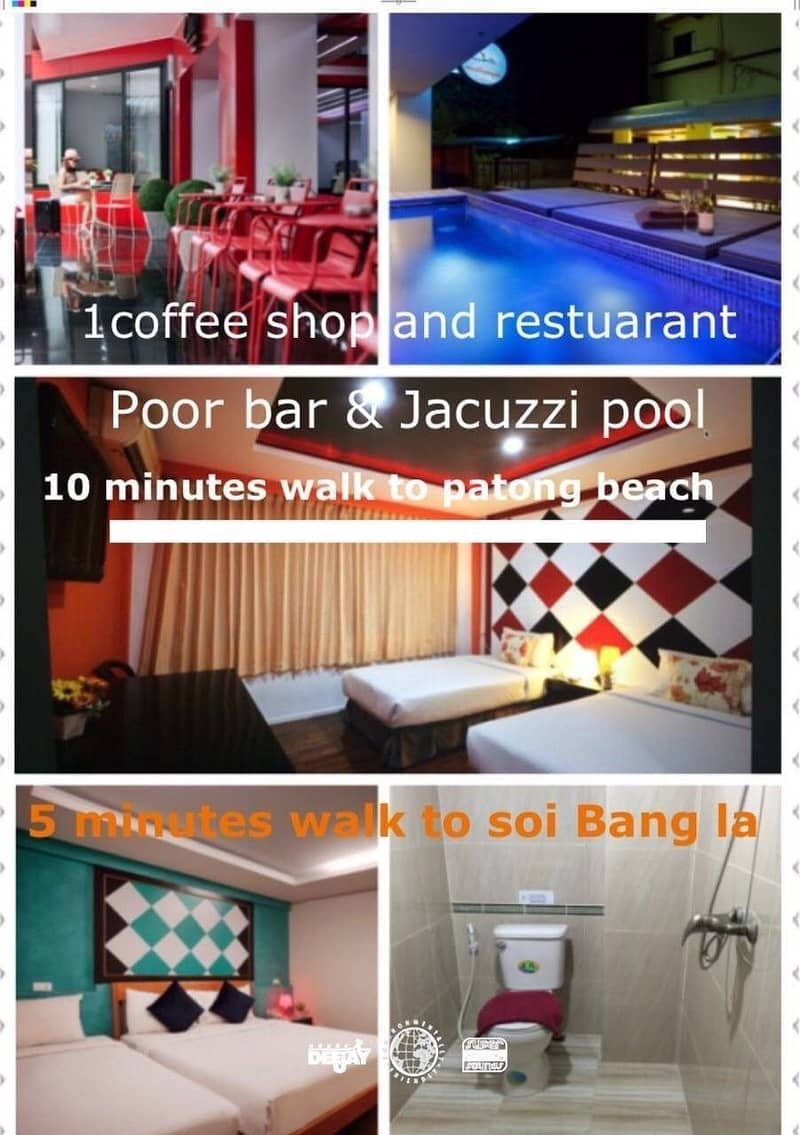 Hotel for sale  700 meters to Patong Beach Patong Sub-district  Kathu District  Phuket Province, 75 rooms  area of 96 square wah