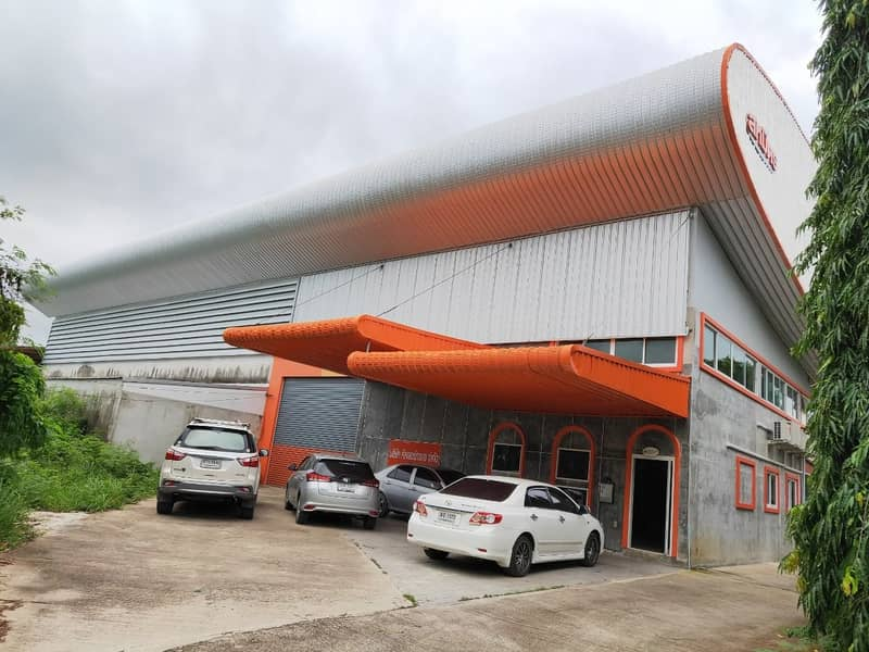 Land for sale with warehouse. Large warehouse Rayong city center