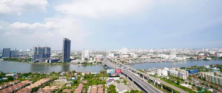 1 Bedroom Condo for Rent in Mueang Nonthaburi, Nonthaburi - Condo for rent Near Purple Line MRT and Chaopraya Rever View Fully Furnished and Free Wifi