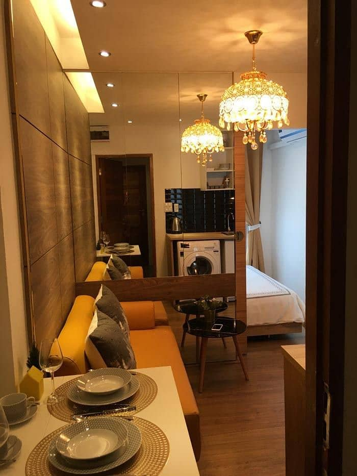 Rent 1 year get free 1 month fully furnished Service apartment Central Westgate MRT Purple Line 6700 baht