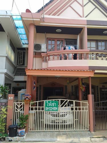3 Bedroom Townhouse for Rent in Khan Na Yao, Bangkok - 3-storey townhouse for sale, 6 m wide, Supalai Village Soi Nuanchan 64 (Soi first, next to the expressway), beautiful decoration, very good location, convenient transportation