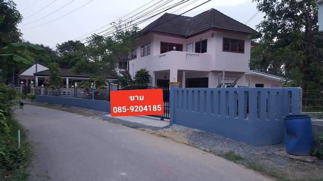 2 storey detached house for sale near Khao Yai, Nakhon Nayok Province, 3 bedrooms, 2 bathrooms, 2 large hall, 1 kitchen with an area of 231 sq m