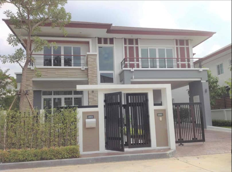 2 storey detached house for sale, NC Royal Pinklao 103 sq. Wah, 4 bedrooms, near Kanchanaphisek Ring Road. New house never lived.