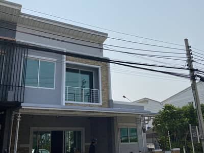4 Bedroom Townhouse for Sale in Bang Bon, Bangkok - ♨️ Townhome 2 stpley, land area 30.30 square wah       4 bedrooms, 2 bathrooms, 1 multipurpose room       Parking for 2 cars. Usable area 180 square meters‼️‼️ very big Townhome or single house‼️‼️ #Pleno Village Ekachai - Kanchanaphisek