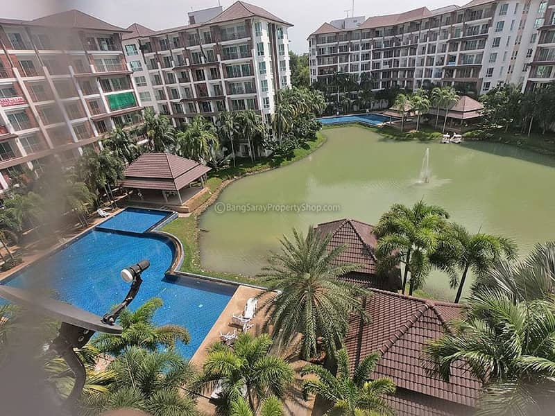 1 bedroom condo for rent in Bang Saray (with washing machine)
