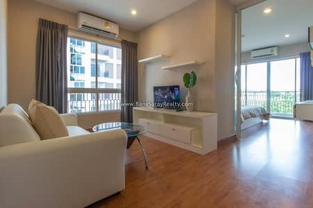1 Bedroom Condo for Rent in Sattahip, Chonburi - Condo for rent near Bang Saray beach 250 m. With furniture and appliances.