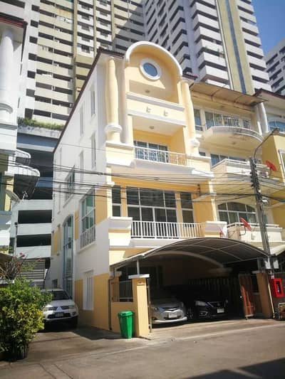 4 Bedroom Townhouse for Rent in Yan Nawa, Bangkok - Rent townhome, 4 bedrooms, 5 bathrooms, Philosophy Sathupradit 41 village, size 28.5 square meters, behind the corner
