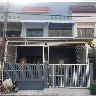 3 Bedroom Townhouse for Sale in Mueang Nakhon Nayok, Nakhonnayok - 2-storey townhouse for sale (beautiful, ready), area 27 sq m, Chom Fah - Warangul, Rangsit Klong 3, 3 bedrooms, 2 bathrooms