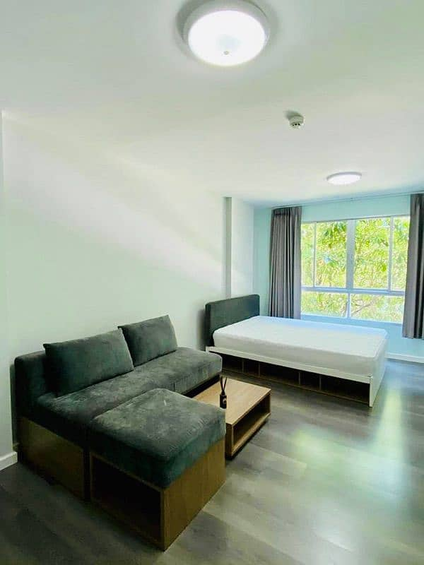 Code 277 For rent Dcondo D Condo Campus Resort Bangna suitable for ABAC students.