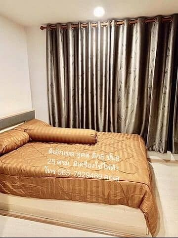 The Excel Khukhot Lam Luk Ka Condo for rent, beautiful room, fully furnished, near Lotus Lam Luk Ka.
