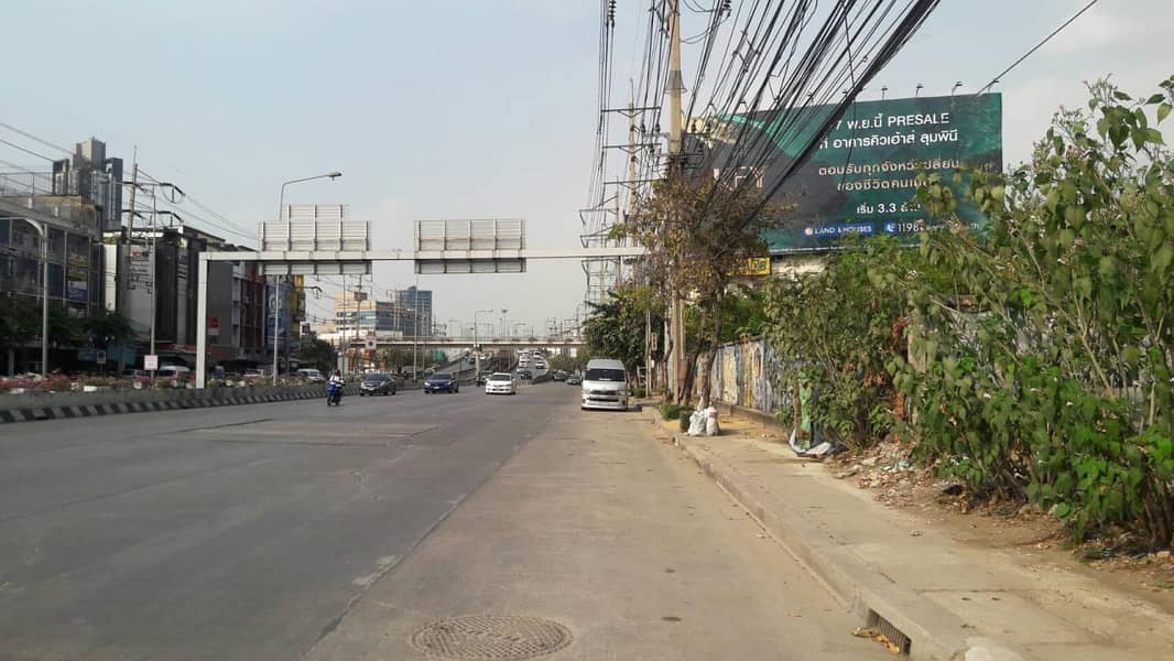 39650 land for rent, Front next to Rama 3 Road, behind next to the Chao Phraya River, Plot size 4 rai