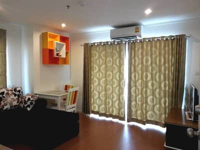 1 Bedroom Condo for Rent in Mueang Nonthaburi, Nonthaburi - Condo for rent, LPN Rattanathibet, next to the main road, 1 bedroom, 36 square meters, city view, no building block, good condition, near the MRT Purple Line, rent 9,000
