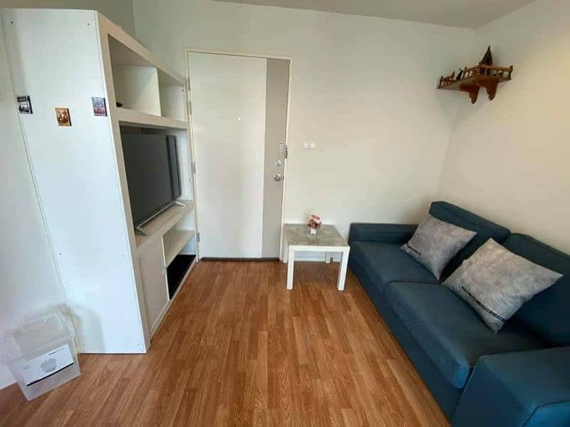 Code 03 Condo for rent, LPN Lumpini Ville Nakhon In-River, spacious room, beautiful, fully furnished, ready to move in. Rent very cheap.