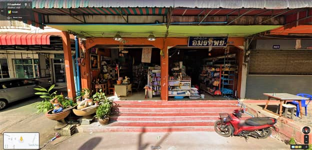 Commercial Building for Sale in Bang Lamung, Chonburi - Commercial building, 3 booths, 2 adjacent booths, Soi Khao Noi, Pattaya, near Lotus Express. and the Government Savings Bank and Bangkok Bank, the area is 36 square meters, 3 floors high, has a rooftop