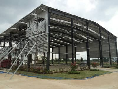 Factory for Sale in Khlung, Chanthaburi - Building a ready-made warehouse And warehouses for rent across the country