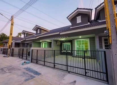 2 Bedroom Townhouse for Rent in Nikhom Phatthana, Rayong - House for rent in Sensiri Campus in front of North Bangkok University Baan Khai Technic, Rayong, near the industrial estate, Km. 12, Lotus Nikhom Pattana