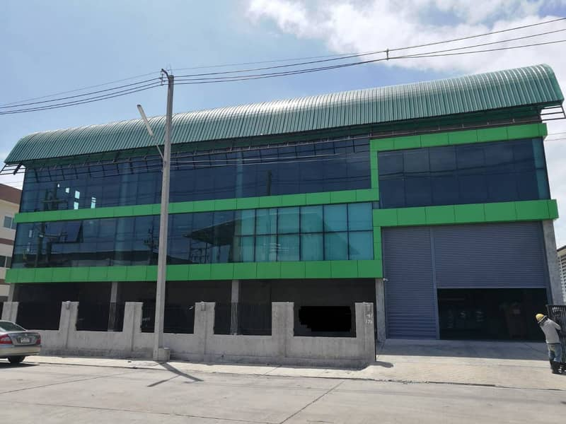 Factory building for rent, area 396 square wa, used area 1,092 square meters, 2-storey office with license Ror. 4 Rama 2 Road, Muang District, Samut Sakhon Province