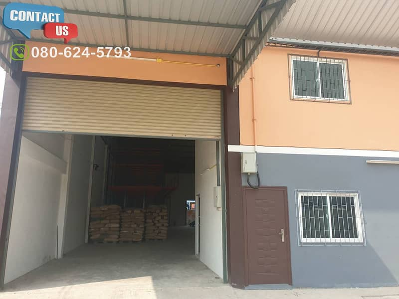 E20 Warehouse for rent 500-1,000 sq m. (With Ror. 4) Nadi district, Muang district, Samut Sakhon