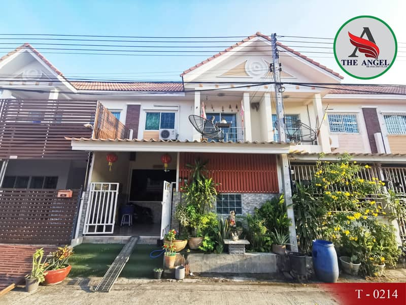 2-storey townhome for sale, 21 square meters, to fill the area Nira Ville Plus, Ekachai Road