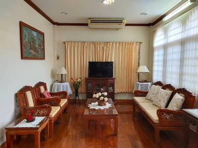 4 Bedroom Home for Rent in Pak Kret, Nonthaburi - 4 bedroom detached house for rent, near Central Chaengwattana, near the expressway, fully furnished, complete electrical appliances.