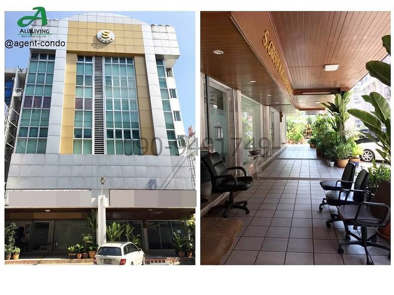 Office building for rent, S Group, New Petchburi Road, fully furnished, suitable for office