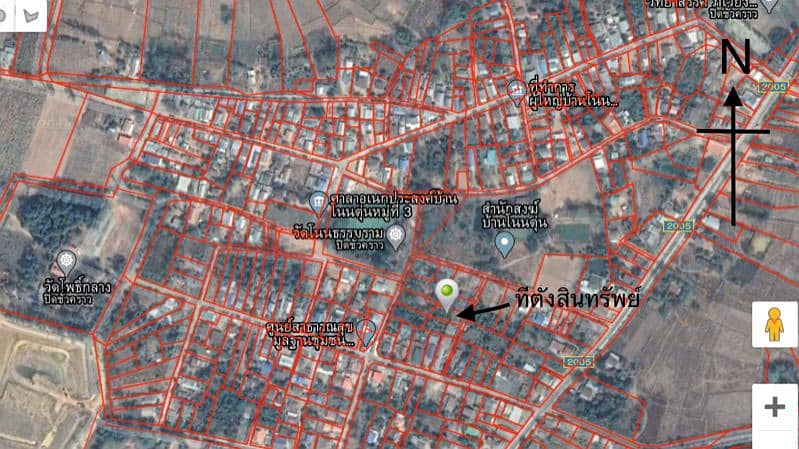 Land for sale 150 square wa. Plot 250,000, excluding transfer fee, title deed number 38730, Baan Non Tun, Sompuei Subdistrict, Phu Wiang District