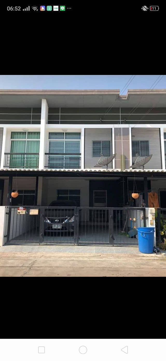 Townhome available for rent. Prapassorn Prezio 4 Project, Sukprayoon Road, Mueang Chonburi District