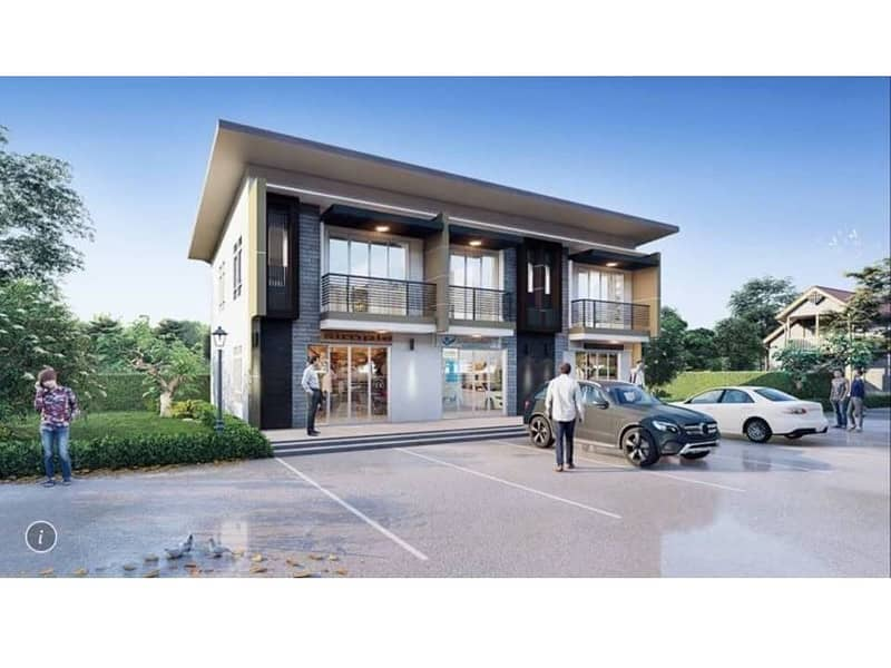 2-storey commercial building for sale, new species Modern style (House 1), Wat Chan Subdistrict, Phitsanulok Province
