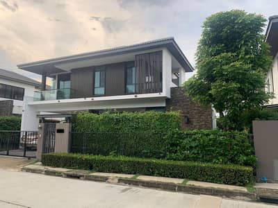 4 Bedroom Home for Sale in Sai Mai, Bangkok - House for sale, Manthana Village, Lake Watcharaphon, zone near the lake and clubhouse. beautiful big house ready to move in