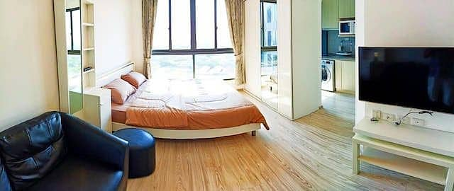 1 Bedroom Condo for Rent in Bang Na, Bangkok - Ideo Mobi Eastgate fully furnished beautiful view 15th floor BTS Bang Na