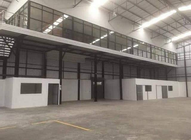 New warehouse for rent with office in Watcharaphon area Ram Inthra near the Ring Kanchana Expressway, Ramintra Express - At Narong