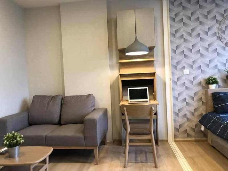Rent Chamber Condo On Nut in Soi Sukhumvit 81, near BTS On Nut 230 meters, new room, fully furnished, cheap.