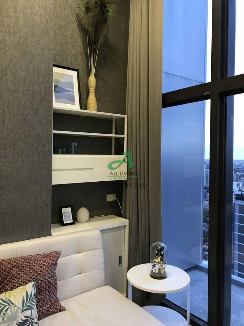 Condo for rent, Chewathai Residence Asoke, elegant room, fully furnished.