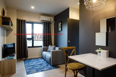 1 Bedroom Condo for Rent in Mueang Chiang Mai, Chiangmai - Condo for rent Escent Condo Chiang Mai Escent Condo Chiang Mai Central Festival 7th floor, 1 bedroom 32 sqm.