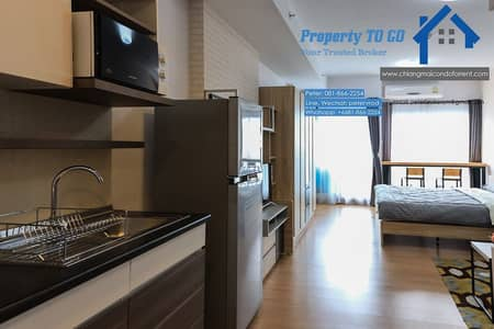 1 Bedroom Condo for Rent in Mueang Chiang Mai, Chiangmai - 33 sqm Supalai Monte 1 Supalai Monte Condo for rent, 15th floor, near Central Festival Chiang Mai, new room, never been in.