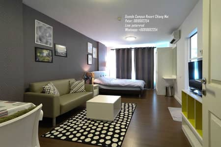 1 Bedroom Condo for Rent in Mueang Chiang Mai, Chiangmai - Condo for rent: D Condo Campus Resort Chiang Mai, 2nd floor, 1 bedroom, 30 sqm, near Chiang Mai University, D Condo Campus Resort Chiang Mai