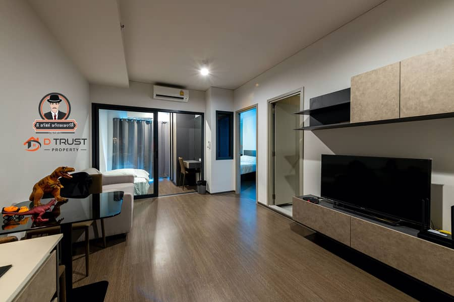 Condo for rent, Ideo Phahon-Chatuchak, corner room, 2 bedrooms, fully furnished