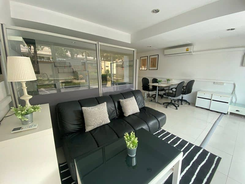 Office for rent, shop for rent, condo for sale, my condo project, Sathorn Taksin, 66 sq m, fully furnished, ready to sell.