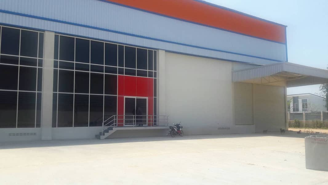 G97-Warehouse and office for Rent area 1,944 sqm. Near Bangplee Industrial Estate Warehouse with office, Thepharak Road, Bangplee Industrial Estate.
