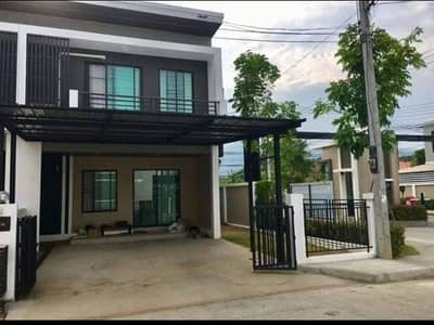 3 Bedroom Townhouse for Rent in Mueang Chiang Mai, Chiangmai - Townhome for rent Karnkanok Town 3 Village, Suthep Subdistrict, Mueang District, Chiang Mai Province, next to the airport